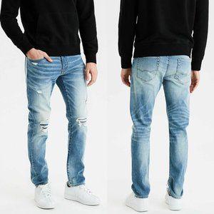American Eagle Destroy Slim Fit Selvedge Jeans
